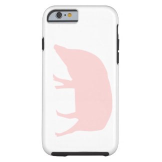 Caso rosado del iPhone 6 del cerdo