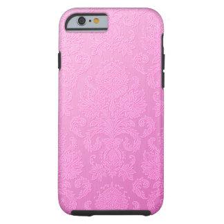 Caso rosado del iPhone 6 del damasco