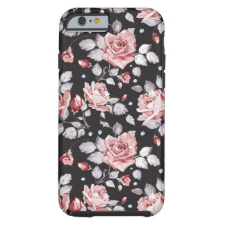 Caso rosado del iPhone 6 del estampado de flores Funda Para iPhone 6 Tough