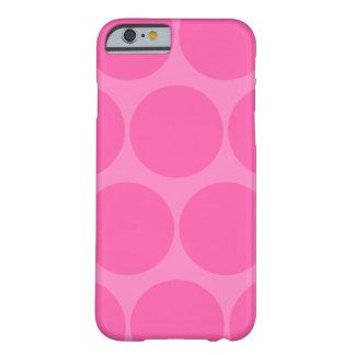 Caso rosado del iPhone 6 del lunar Funda De iPhone 6 Slim