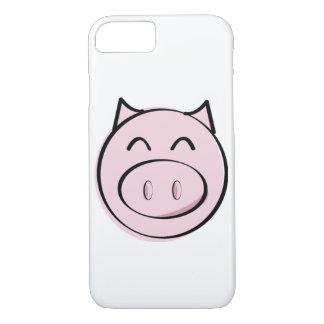 Caso rosado del iPhone 7 del cerdo Funda iPhone 7