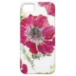 Caso rosado del iPhone de la acuarela de la anémon iPhone 5 Cárcasas