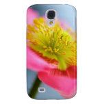 Caso rosado del iPhone de la amapola
