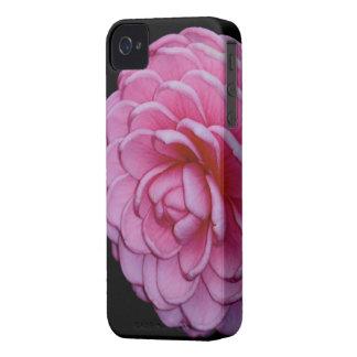 Caso rosado del iPhone de la camelia iPhone 4 Case-Mate Cárcasas