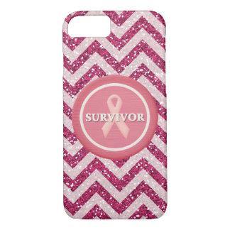 Caso rosado del iPhone de la cinta del rosa del Funda iPhone 7