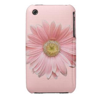 Caso rosado del iPhone de la margarita de Gerber Funda Para iPhone 3 De Case-Mate