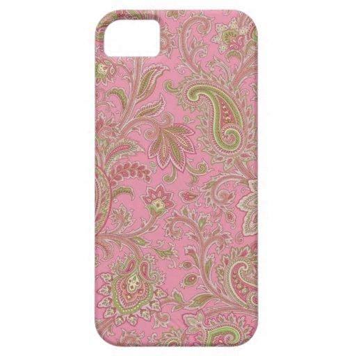 Caso rosado del iPhone de Paisley Funda Para iPhone SE/5/5s