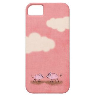 Caso rosado del iPhone de Piggies iPhone 5 Cárcasa