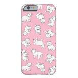 Caso rosado del iPhone de Westies Funda De iPhone 6 Barely There