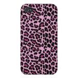 Caso rosado del iPhone del guepardo iPhone 4/4S Fundas