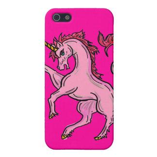Caso rosado del iphone del unicornio iPhone 5 carcasa