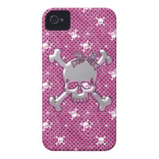 Caso rosado del iPhone lindo 4 de los cráneos y de iPhone 4 Case-Mate Coberturas