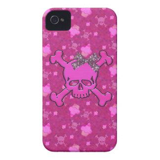 Caso rosado del iPhone lindo 4 de los cráneos y de Case-Mate iPhone 4 Coberturas