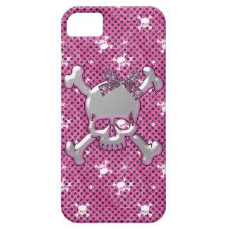 Caso rosado del iPhone lindo 5 de los cráneos y de iPhone 5 Carcasa