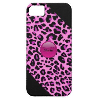 Caso rosado del leopardo iPhone5 iPhone 5 Case-Mate Protectores