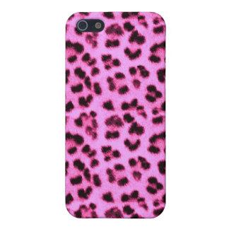 Caso rosado del leopardo iPhone 5 carcasa
