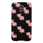 Caso rosado del nexo de Samsung de los cerdos