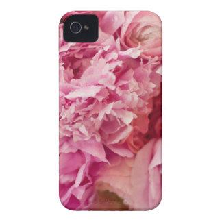 Caso rosado del Peony iPhone 4 Case-Mate Protectores