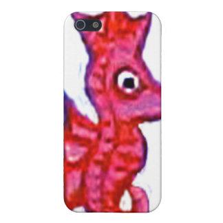 Caso rosado del Seahorse iPhone 5 Protector