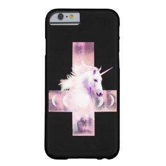 Caso rosado del unicornio funda barely there iPhone 6