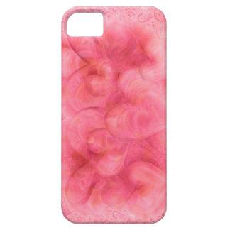 Caso rosado elegante del iPhone 5 de los corazones iPhone 5 Case-Mate Coberturas