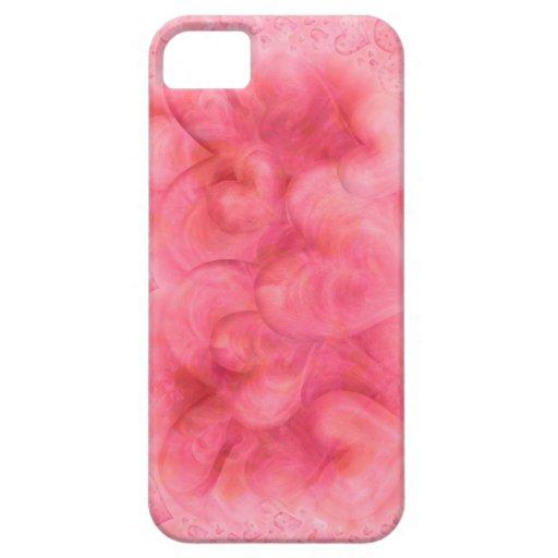 Caso rosado elegante del iPhone 5 de los corazones iPhone 5 Carcasas