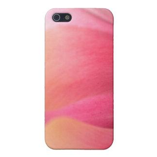 Caso rosado enorme del iPhone 4 de los pétalos del iPhone 5 Fundas