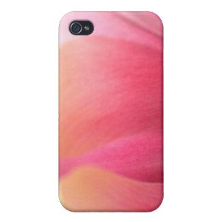 Caso rosado enorme del iPhone 4 de los pétalos del iPhone 4 Protector