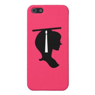 Caso rosado graduado del iPhone 5 de la silueta iPhone 5 Carcasas