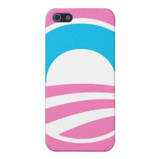 """Caso (rosado) grande del iPhone"""" del logotipo de """" iPhone 5 Funda"""