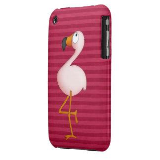 Caso rosado lindo del iPhone 3G del flamenco Case-Mate iPhone 3 Fundas