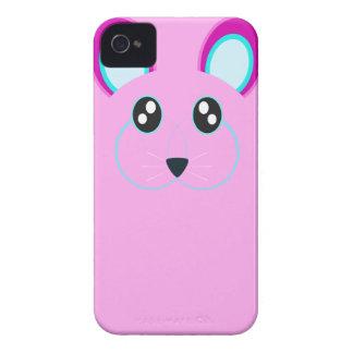 Caso rosado lindo del iPhone 4/4S del conejo Case-Mate iPhone 4 Cobertura