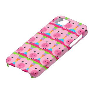 Caso rosado lindo del iPhone 5 del arco iris del m iPhone 5 Protector