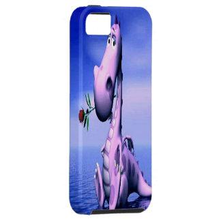 Caso rosado lindo del iPhone 5 del dragón Funda Para iPhone SE/5/5s
