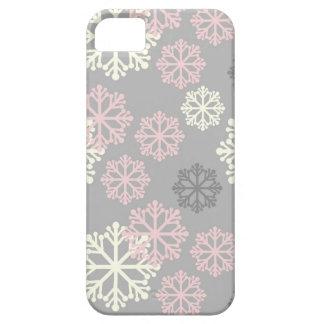 Caso rosado lindo del iPhone 5 del invierno del co iPhone 5 Case-Mate Coberturas