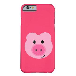 Caso rosado lindo del iPhone 6 del cerdo Funda Barely There iPhone 6