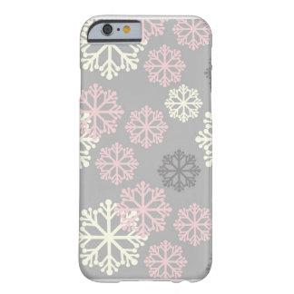 Caso rosado lindo del iPhone 6 del invierno del Funda Para iPhone 6 Barely There