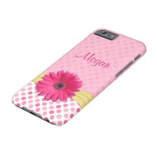 Caso rosado lindo del iPhone 6 del lunar de la