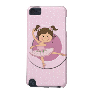 Caso rosado lindo del tacto de IPod de la bailarin Funda Para iPod Touch 5G