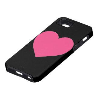 Caso rosado llano simple del iphone 5 del negro iPhone 5 carcasas