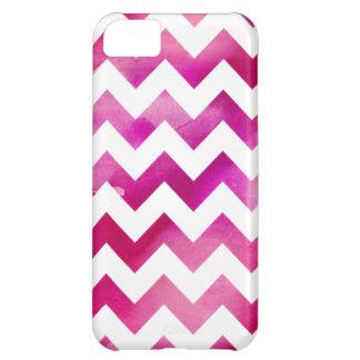 Caso rosado moderno del iPhone 5C de Chevron de la Funda Para iPhone 5C