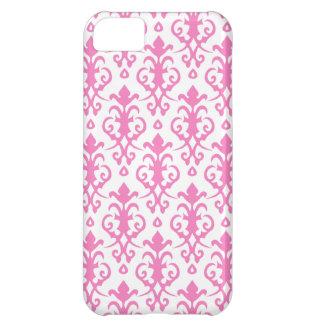 Caso rosado persa del iPhone 5 del damasco