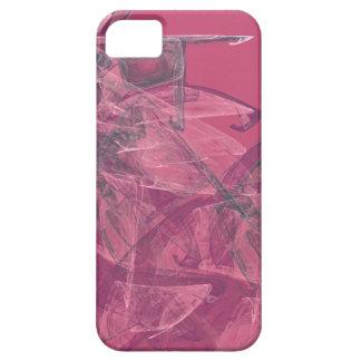 Caso rosado poético del iPhone 5 del arte abstract iPhone 5 Carcasa