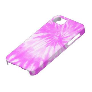 Caso rosado psicodélico del iPhone 5 del teñido iPhone 5 Fundas