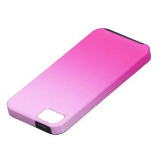 Caso rosado retro del iPhone de Fluoro Funda Para iPhone 5 Tough