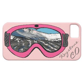 Caso rosado trapezoidal del iphone 5 de las gafas iPhone 5 funda