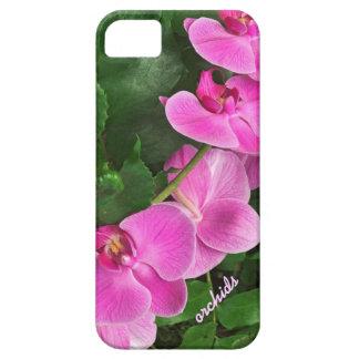 Caso rosado tropical del iPhone 5 de la orquídea Funda Para iPhone SE/5/5s