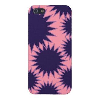 Caso rosado y azul marino de IPhone iPhone 5 Fundas