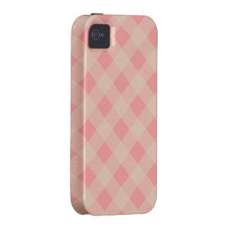 Caso rosado y poner crema del iPhone 4 de la guing Vibe iPhone 4 Funda