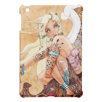 Caso rubio del iPad del ángel